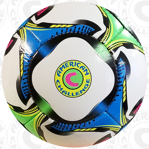 Questo Soccer Ball, Pink-Lime-Gold-Blue-Black