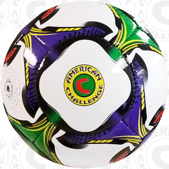 Questo Soccer Ball, Red-Kelly-Purple-Gold-Black