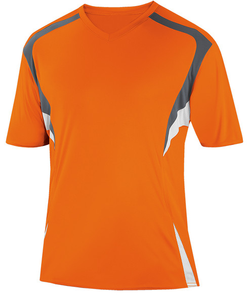 Delray Jersey, Orange/Charcoal-White