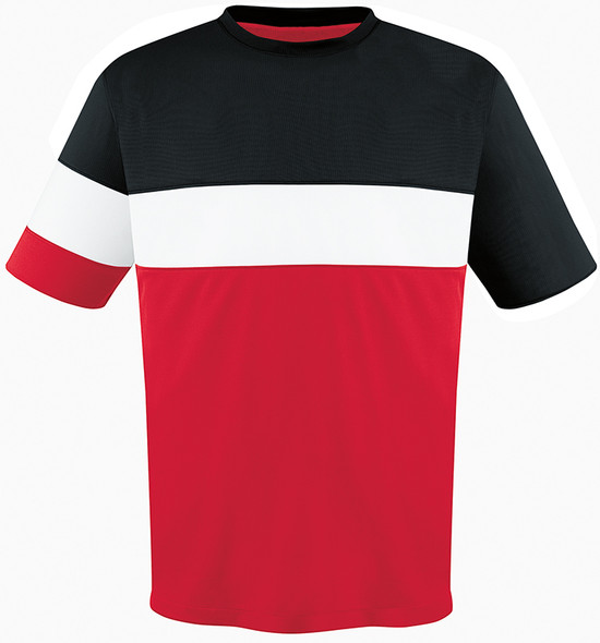 Fairfax Jersey, Red/Black-White