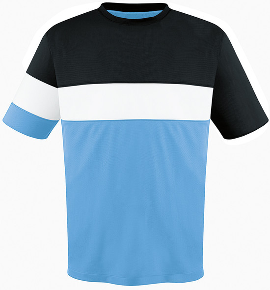 Fairfax Jersey, Sky/Black-White