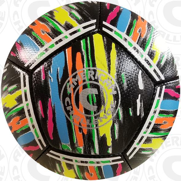 Kura soccer ball, Black/Confetti