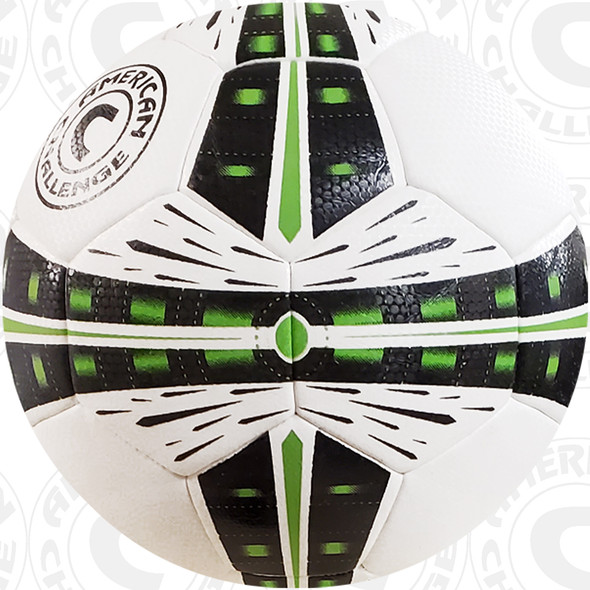 Fusion soccer ball, White/Black-Lime