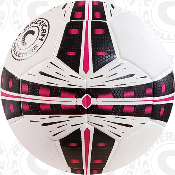 Fusion soccer ball, White/Black-Raspberry