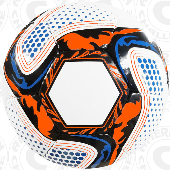 White/Black-Orange-Aqua Competition Ball