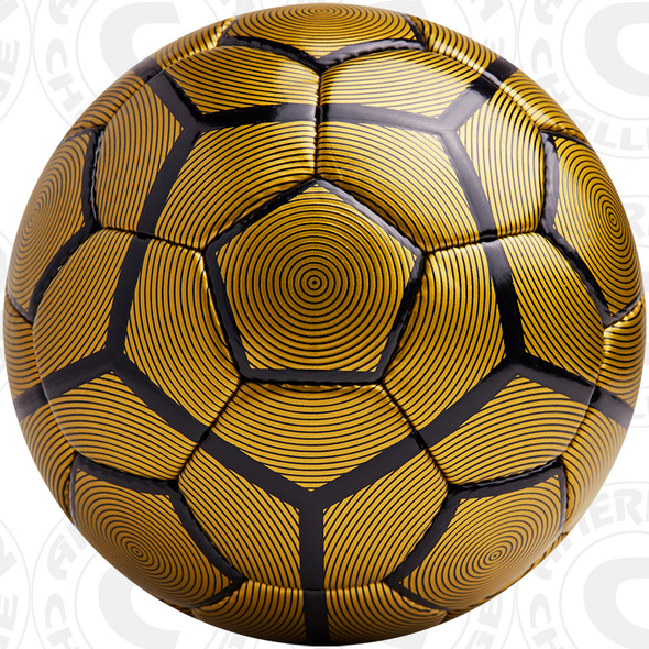 Bergamo Soccer Ball, Gold/Black