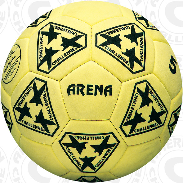 Arena Indoor Soccer Ball, Yellow suede
