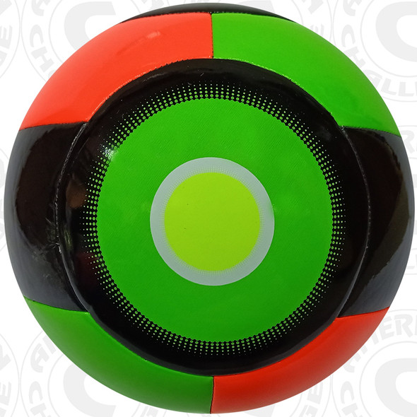 Nevel Soccer Ball, Orange/Lime-Black