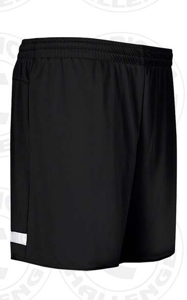 CENTRAL ISLIP LIJSL TRAVEL SHORTS, BLACK/WHITE