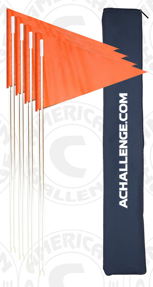 COLLAPSIBLE ECONOMY CORNER FLAGS, SET OF 4