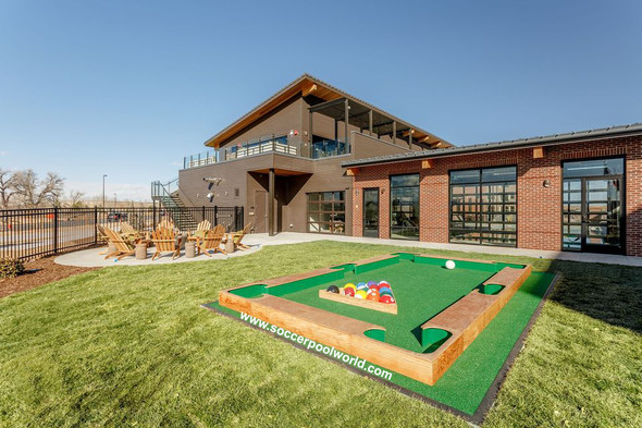 The Billiard balls being used at the Railway Flats, Loveland Colorado