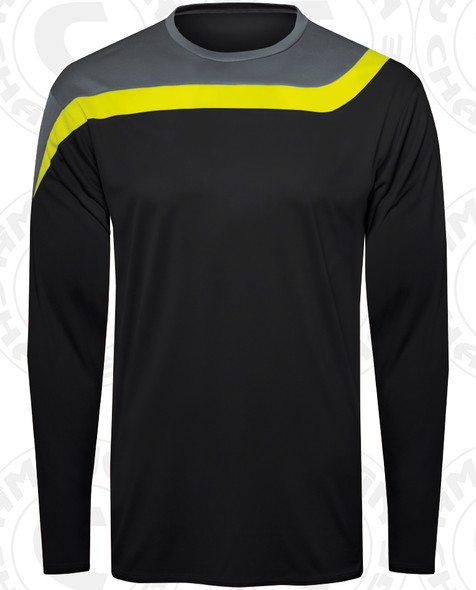 Rockport Keeper Jersey, Black/Charcoal-Shock Yellow