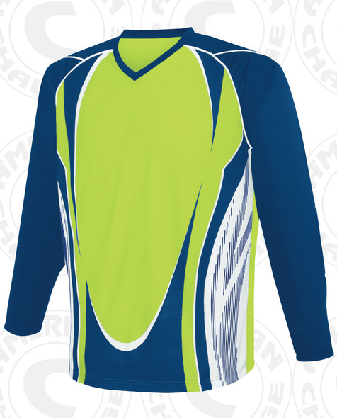 Lexington Keeper Jersey, Lime/Navy-White