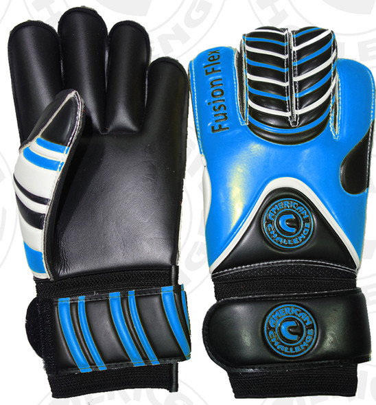 Fusion Flex Keeper Gloves, Royal/Black