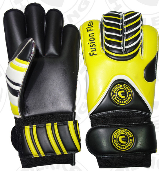 Fusion Flex Keeper Gloves, Yellow/Black