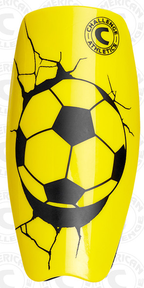 Serie A shin guard, yellow, front - 2.5mm polypropylene outer shell