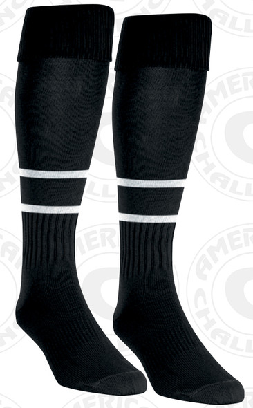 2 Stripe referee socks