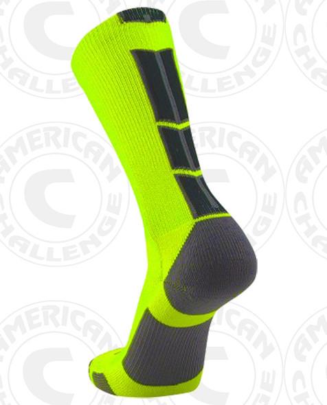 Baseline 3.0 sock - Neon Yellow/Black
