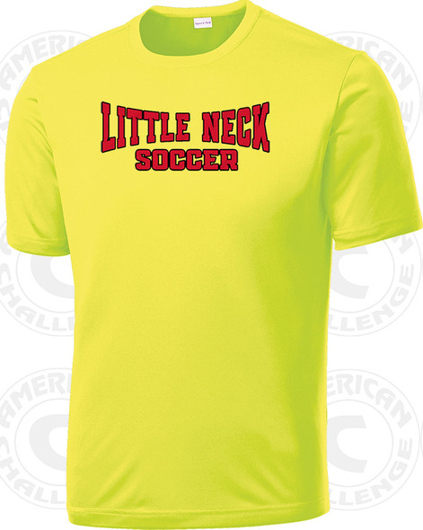 Little Neck Douglaston training Shirt, Neon Yellow