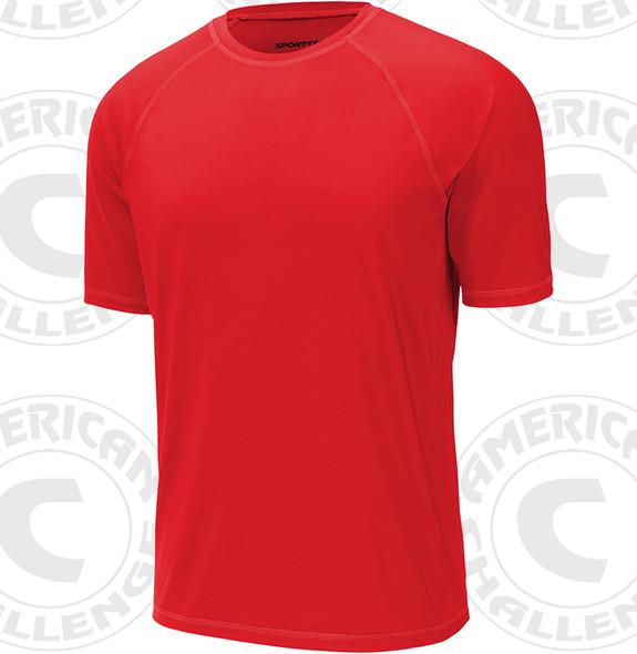 Select rash guard, Short sleeve, Red