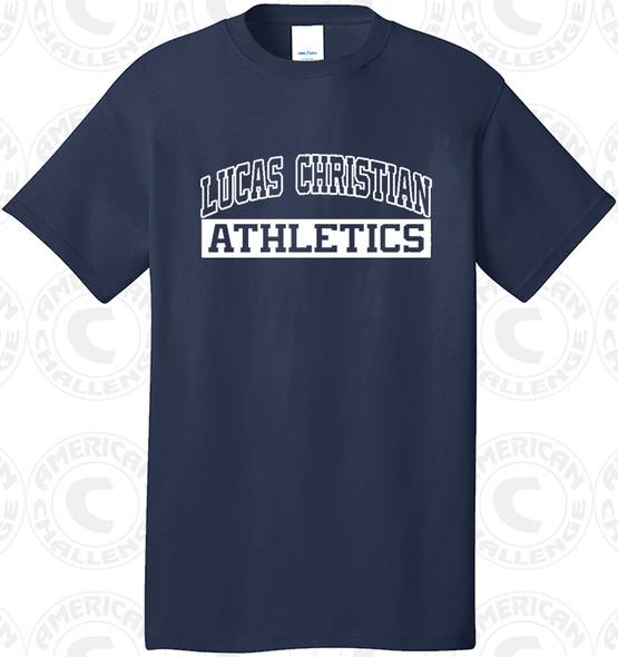 Luca Christian Academy T-Shirt, Navy