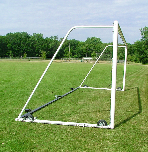 """6'6"""" x 18'6"""" X 3' X 6'6"""" ULTIMATE WHEELED GOAL - side view"""