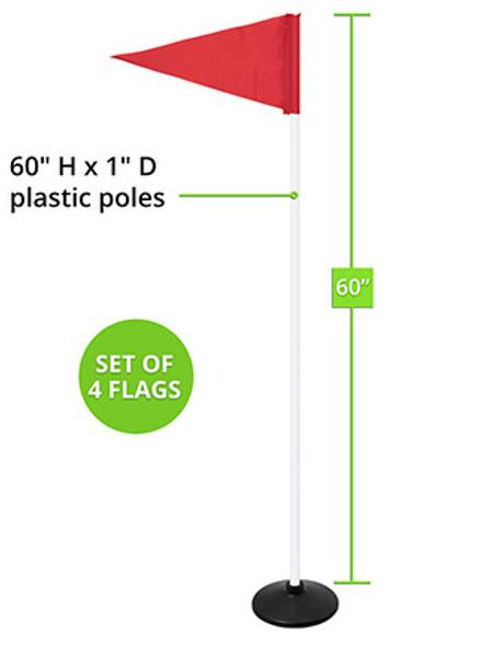 WEIGHTED PREMIUM CORNER FLAGS, SET OF 4