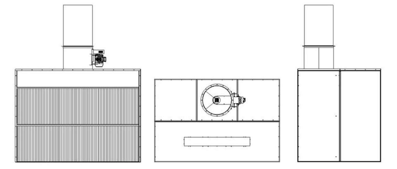 Dry Filter Spray Booths With Axial Flow Fan Airblast Eurospray Direct