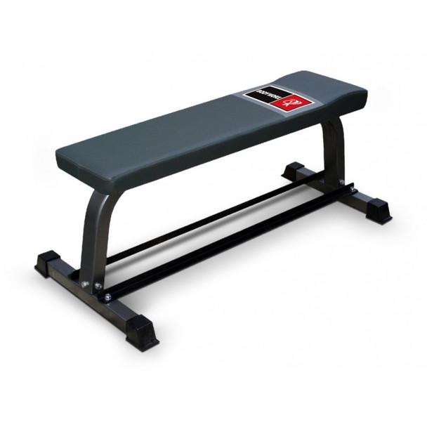BodyWorx C302FB flat bench w dumbell rack