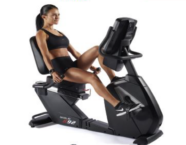 Sole R92 Recumbent Bike in use