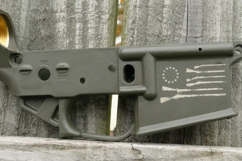"""BATTLE"" AR15 OLIVE DRAB"