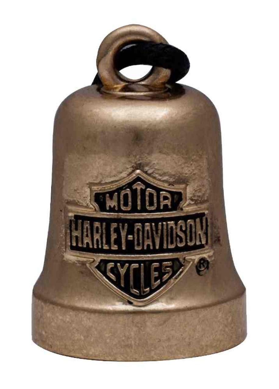 Gold Tone HRB066 Harley-Davidson Bar /& Shield Logo Motorcycle Ride Bell