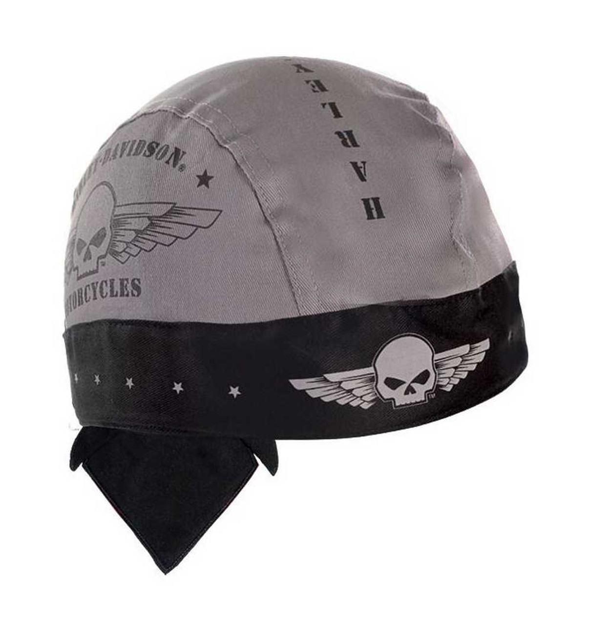 Harley Davidson Men S Head Wrap Skull Military Wings Moisture Wicking Hw04475 Wisconsin Harley Davidson