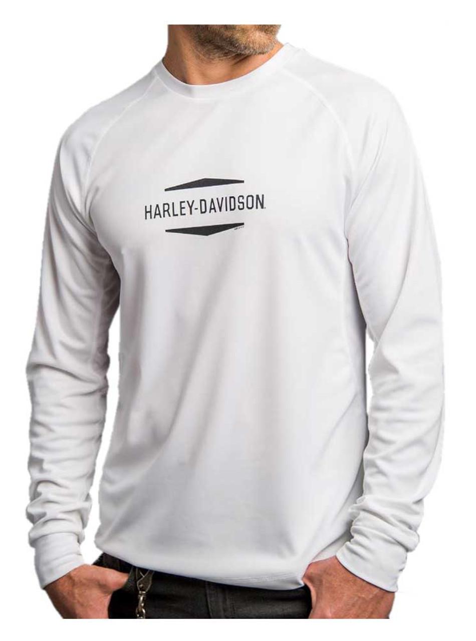 Harley Davidson Men/'s Performance Long Sleeve Crew Neck Shirt