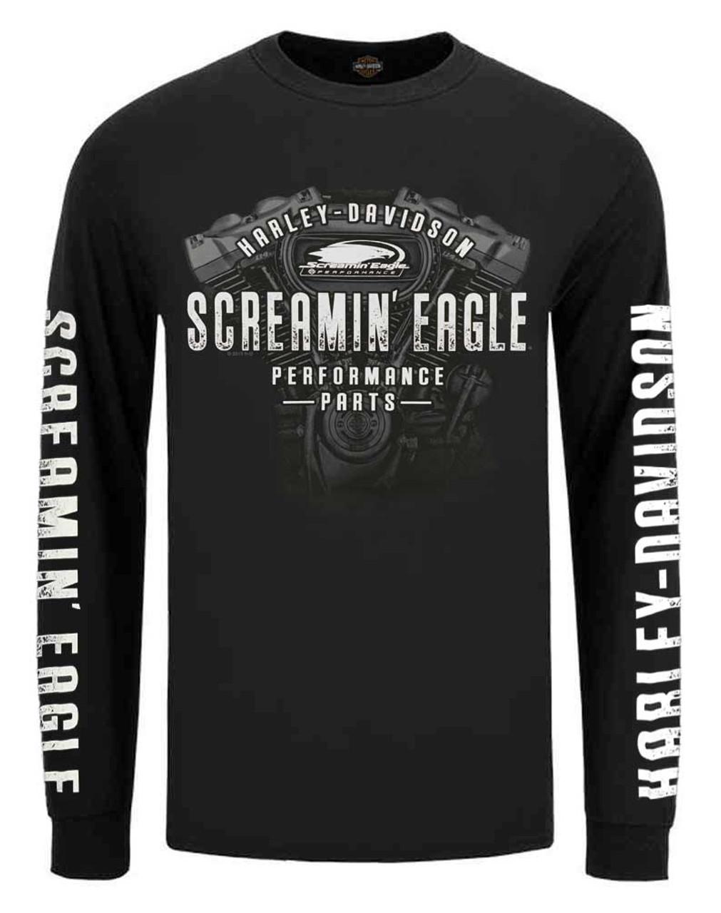 Harley Davidson Mens Engine Line Short Sleeve T-Shirt Black R003454