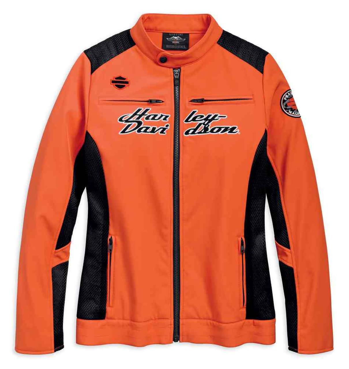 Harley Davidson® Women's Performance H D Mesh Riding Jacket, Orange 97527 19VW