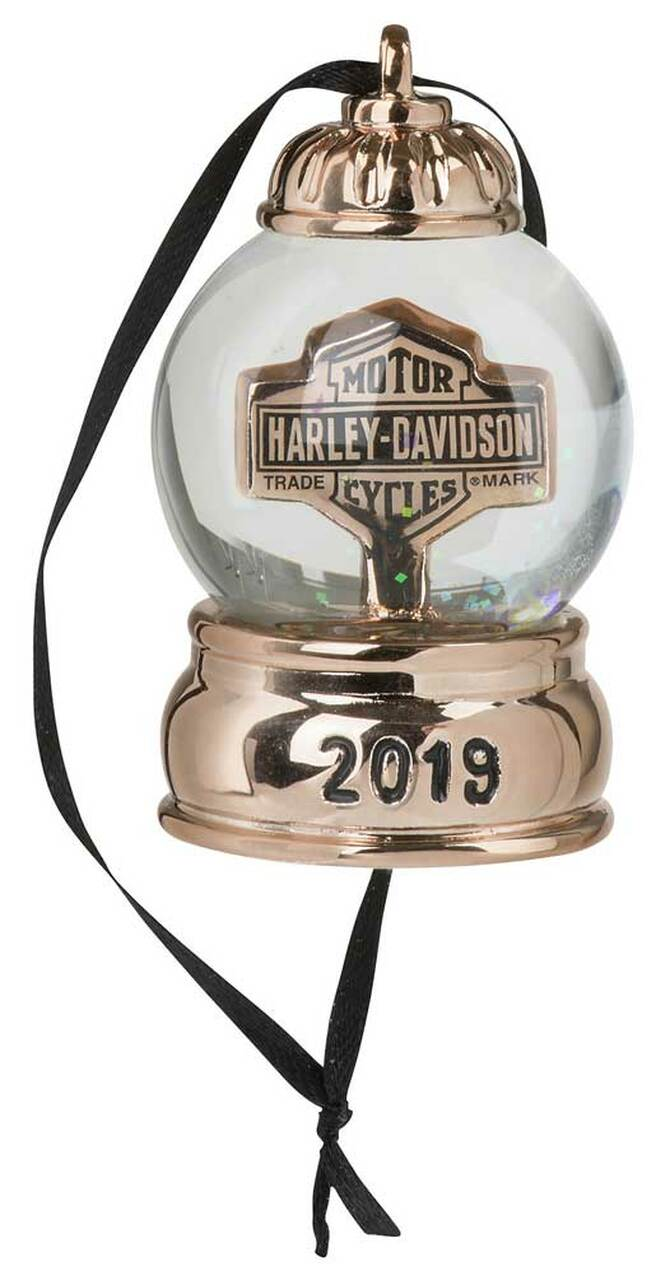 Harley Davidson 2020 Mini Snowglobe Ornament HDX-99204