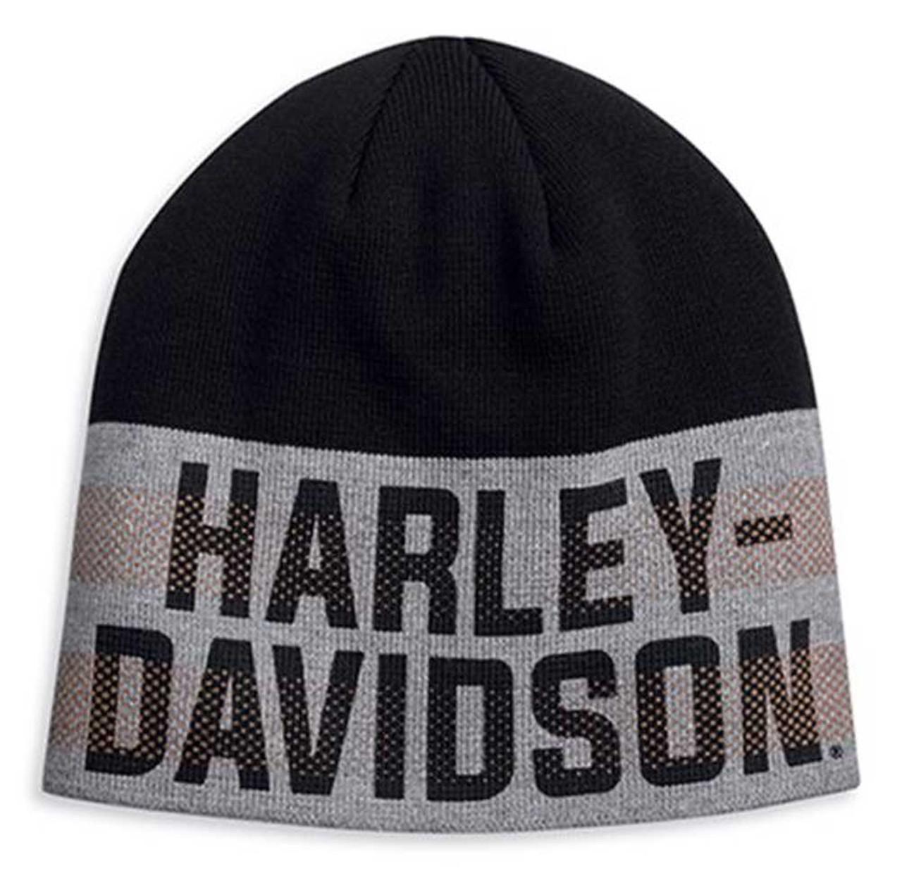 Harley-Davidson® Men/'s Retro Cuffed Bobble Pom Knit Hat 97611-20VM