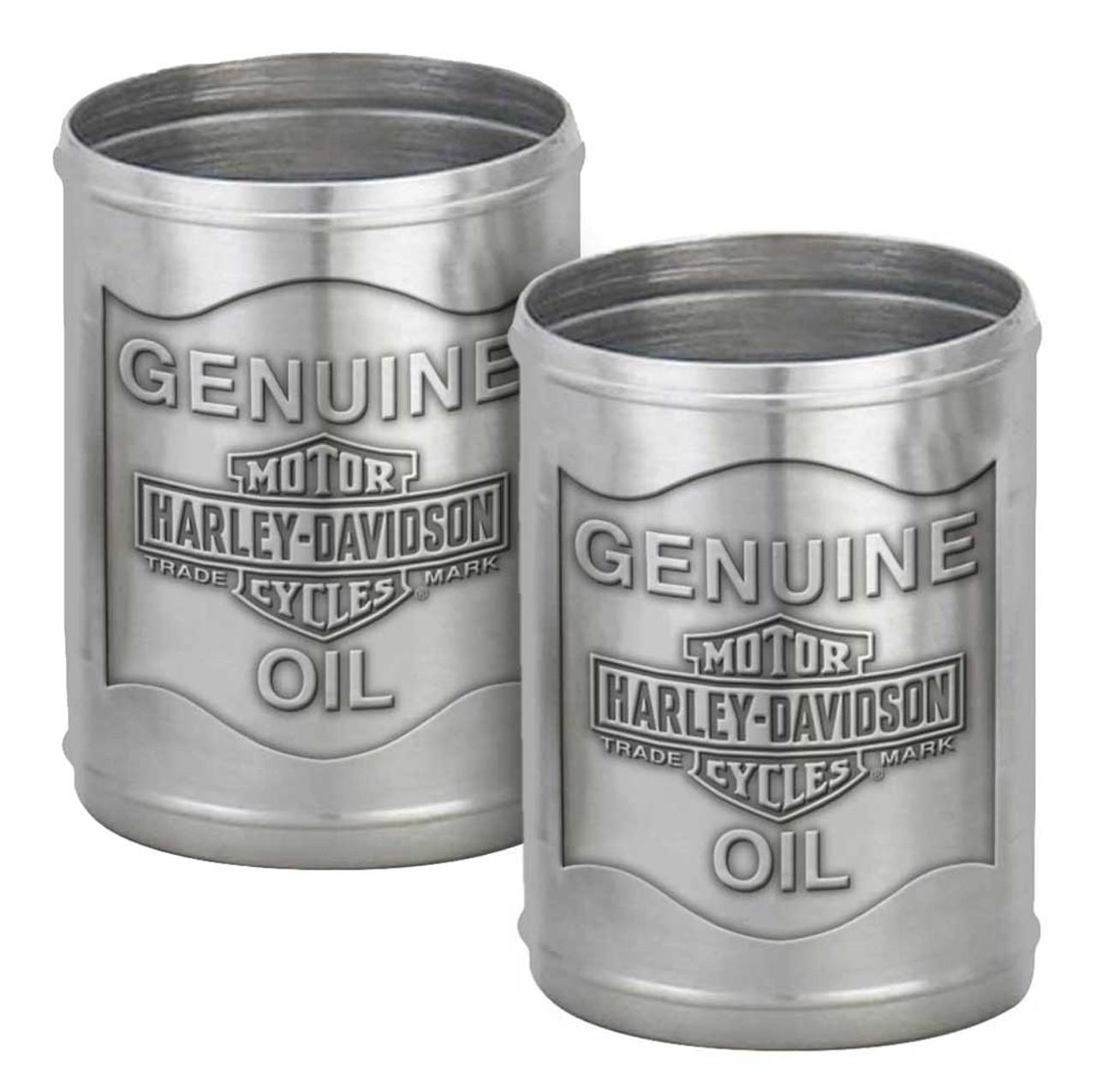 Harley-Davidson Custom Tooled Pewter Oil Can Shot Glass Set 2.3 oz HDL-18805