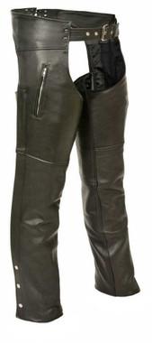 Milwaukee Leather Men's Zippered Thigh Pocket Chaps ML1190 - Wisconsin Harley-Davidson
