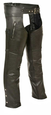 Milwaukee Leather Men's Zippered Thigh Pocket Chaps ML1190 - Wisconsin Harley-Davidson