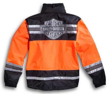Harley-Davidson Men's Hi-Vis Orange Rain Suit 98275-08VM - Wisconsin Harley-Davidson