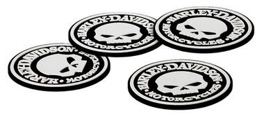 Harley-Davidson Skull Coasters Set - 4 Rubber Coasters HDL-18522 - Wisconsin Harley-Davidson