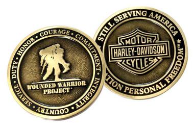 Harley-Davidson Bar & Shield Wounded Warrior Project Challenge Coin 8003425 - Wisconsin Harley-Davidson