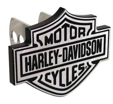 Harley-Davidson Silver Bar & Shield Hitch Plug, 1-1/4 Inch 2-Inch Brackets P2238 - Wisconsin Harley-Davidson