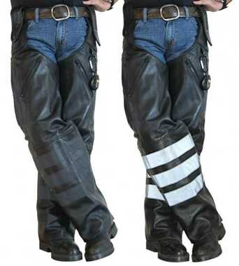 Missing Link Black Ops Leather Hook Chaps BOHCL - Wisconsin Harley-Davidson