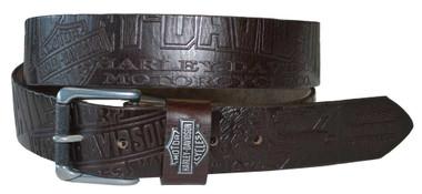 Harley-Davidson Men's Scorching Belt Brown Leather HDMBT10613 - Wisconsin Harley-Davidson