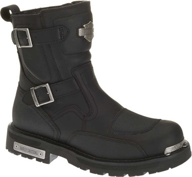 Harley-Davidson Men's Manifold 7-Inch Black Leather Motorcycle Boots D91692 - Wisconsin Harley-Davidson