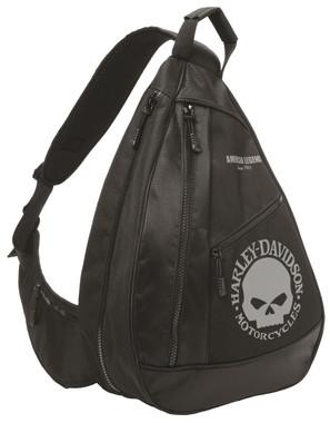 Harley-Davidson Skull Sling Backpack BP1957S-GRYBLK - Wisconsin Harley-Davidson