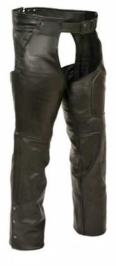 Milwaukee Leather Men's Patch Pocket Chaps w/ Zippered Thigh Pocket ML1766 - Wisconsin Harley-Davidson